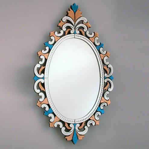 """Sprezzante"" espejo veneciano de cristal de Murano"