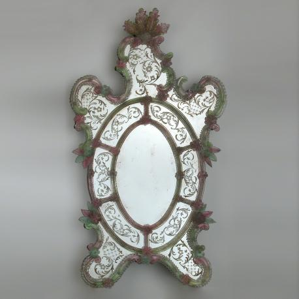 """Sebastian"" Murano glass venetian mirror"