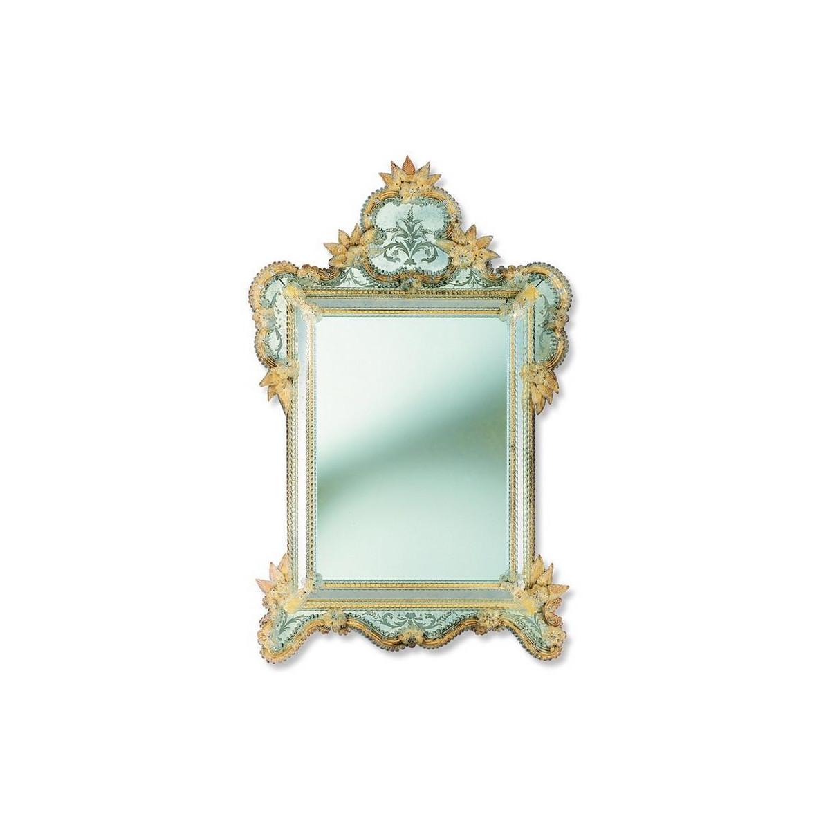 """""""Veridiana"""" espejo veneciano de cristal de Murano"""