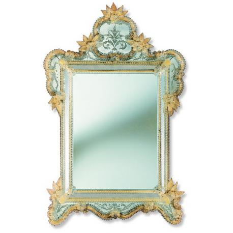 """Veridiana"" Murano glass venetian mirror"