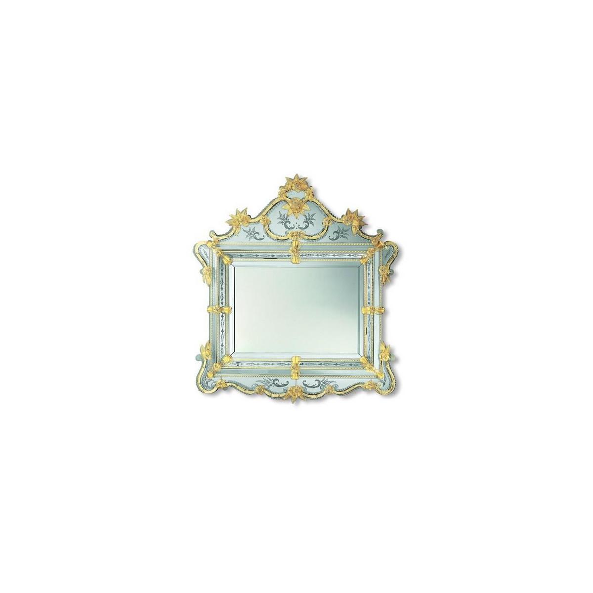 """""""Selma"""" espejo veneciano de cristal de Murano"""