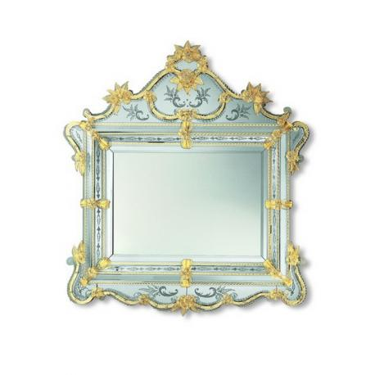 """Selma"" miroir vénitien en verre de Murano"