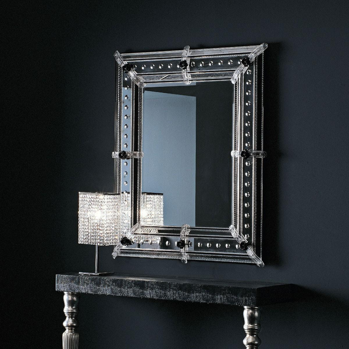 """""""Vania"""" espejo veneciano de cristal de Murano"""