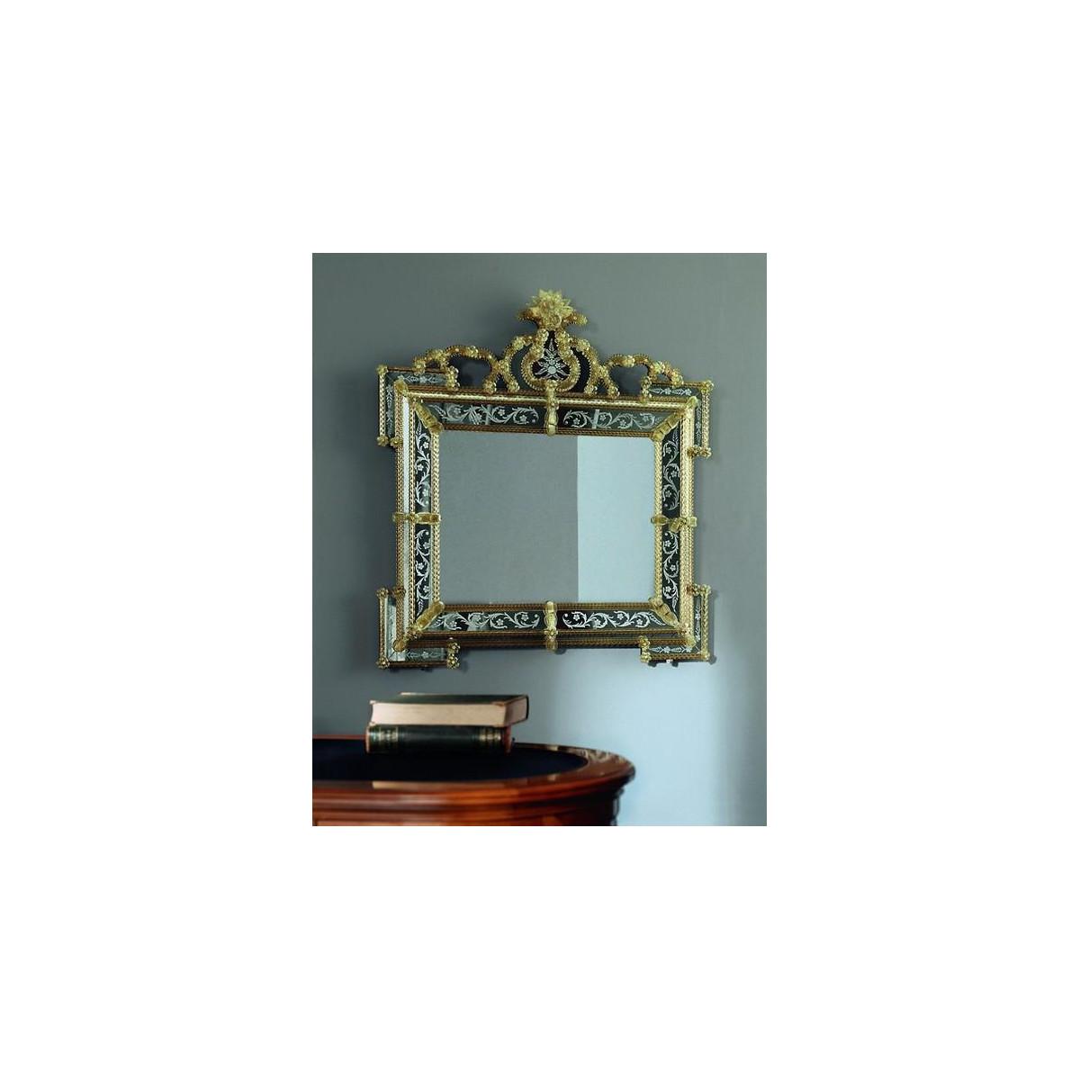 """Elora"" espejo veneciano de cristal de Murano"