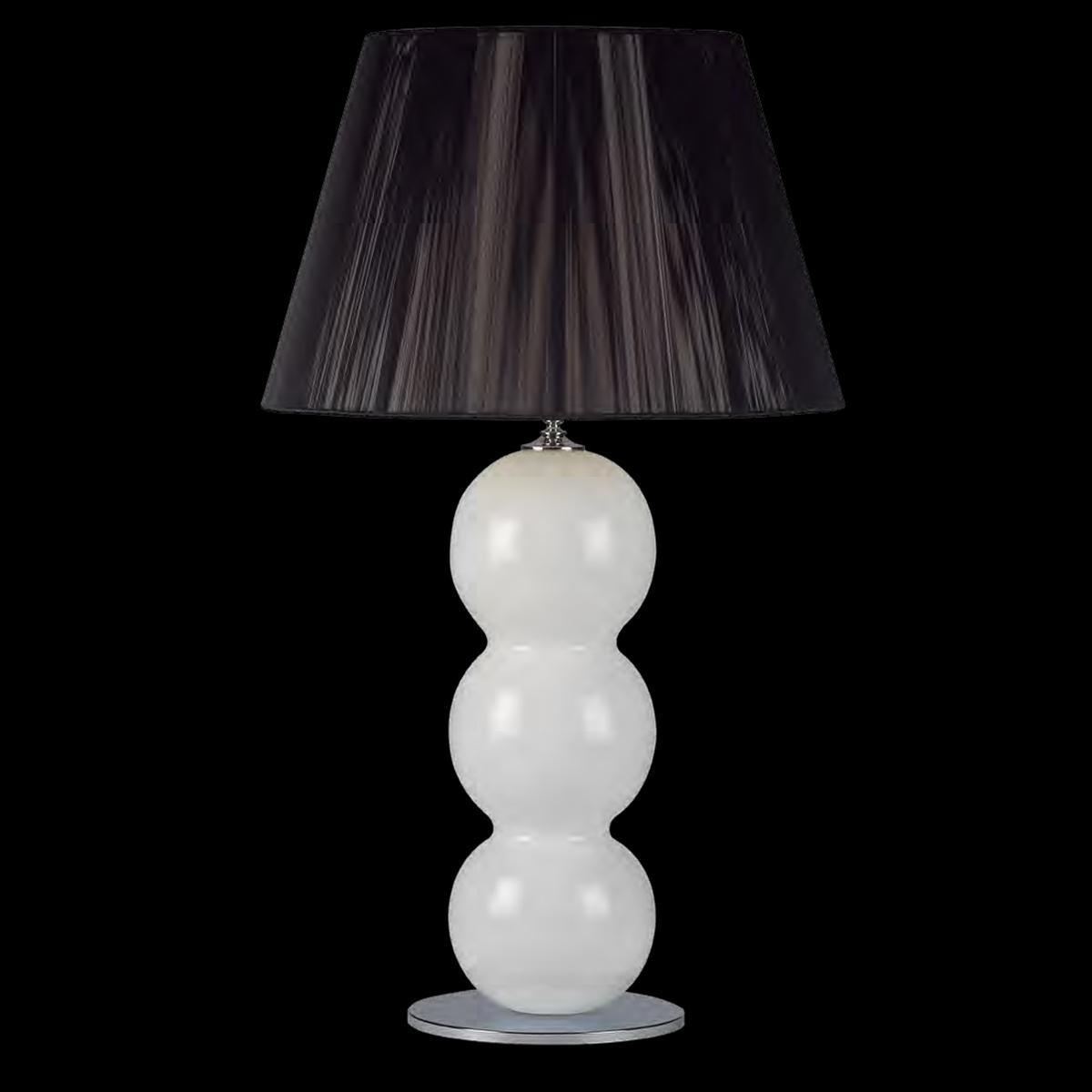 """""""Yolonda"""" lampe de table en verre de Murano - 1 lumière - blanc"""