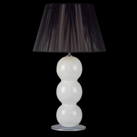 """Yolonda"" Murano glass table lamp - 1 light - white"