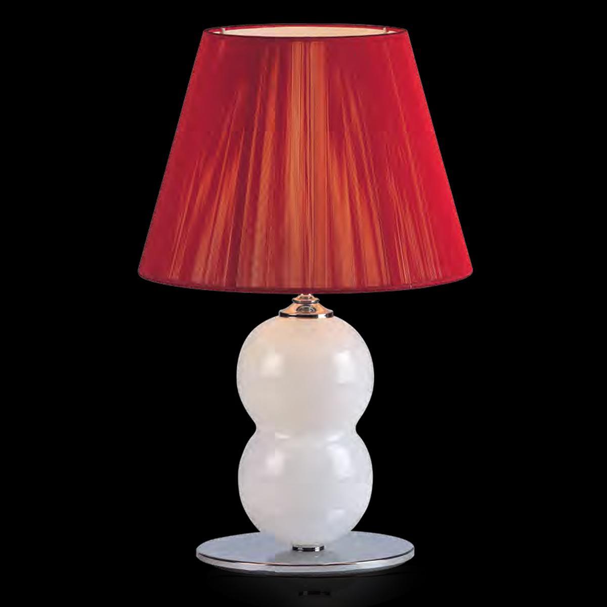 """Yolonda"" lampe de chevet en verre de Murano - 1 lumière - blanc"