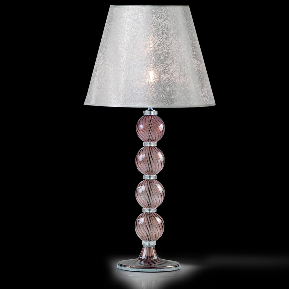 """""""Willow"""" lampe de table en verre de Murano - 1 lumière - améthyste"""
