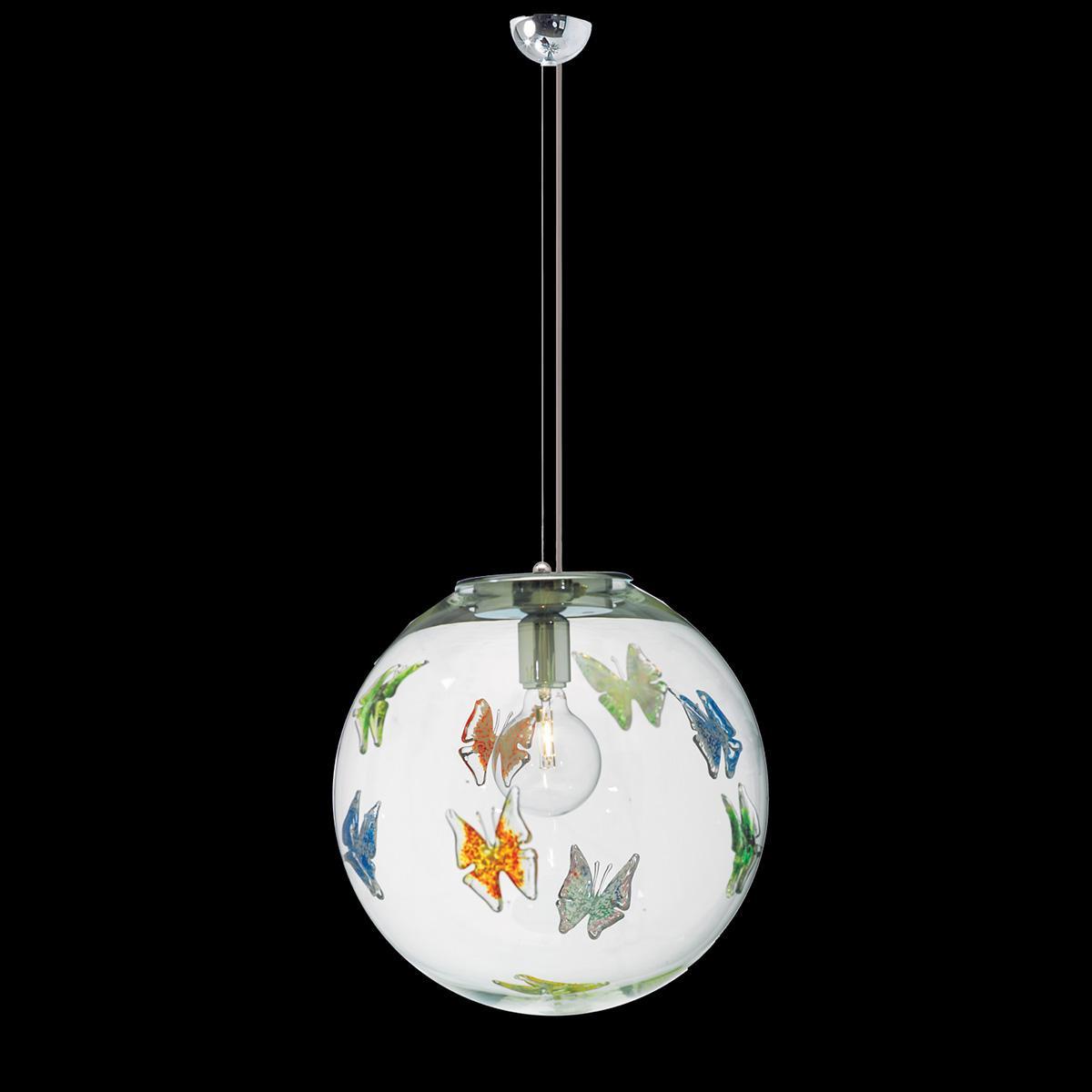 """""""Estelle"""" suspension en verre de Murano - 1 lumière - multicolor"""