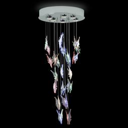 """Janna"" suspension en verre de Murano - 6 lumières - multicolor"