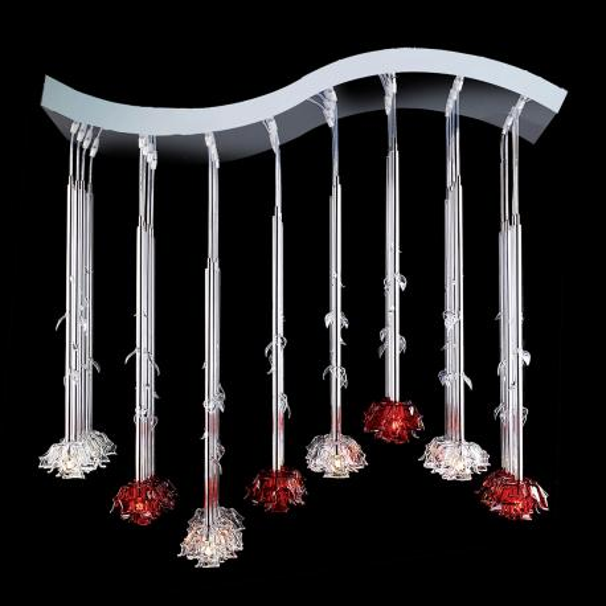 """Lola"" Murano glass pendant light - 64 lights -"
