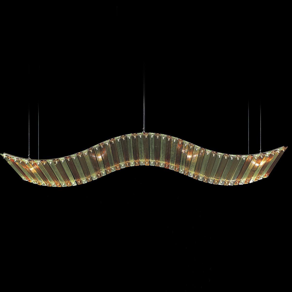"""""""Tania """" lámpara colgante en cristal de Murano - 6 luces - ámbar"""