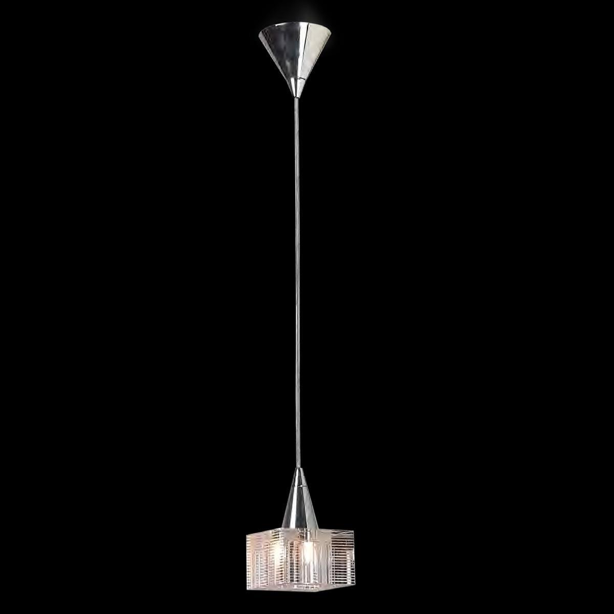 """Sabina "" suspension en verre de Murano - 1 lumière - transparent"