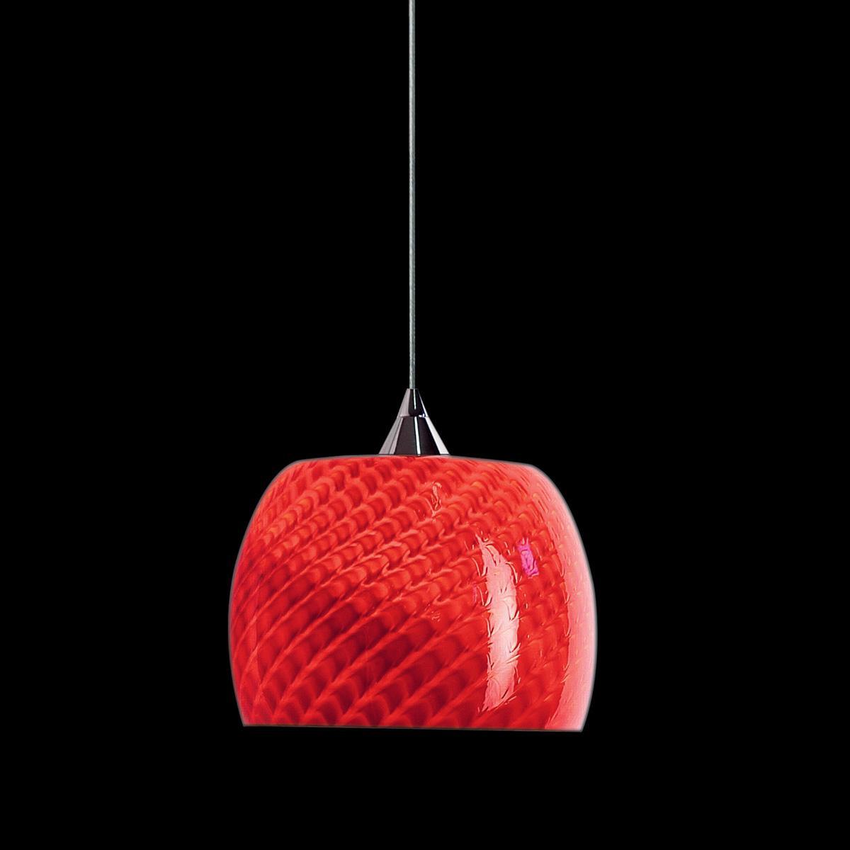 """""""Larissa """" lámpara colgante en cristal de Murano - 1 luce - rojo"""