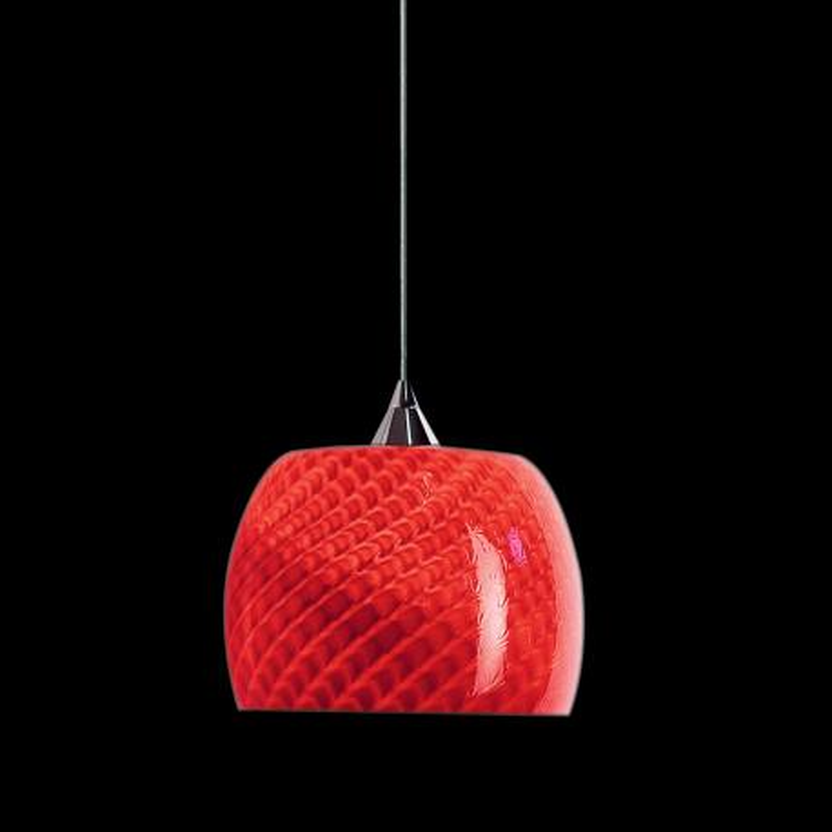 """Larissa "" suspension en verre de Murano - 1 lumière - rouge"