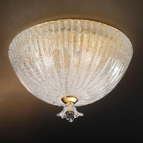 """Severa "" Murano glass ceiling light - 3 lights - ""rugiada"" transparent"