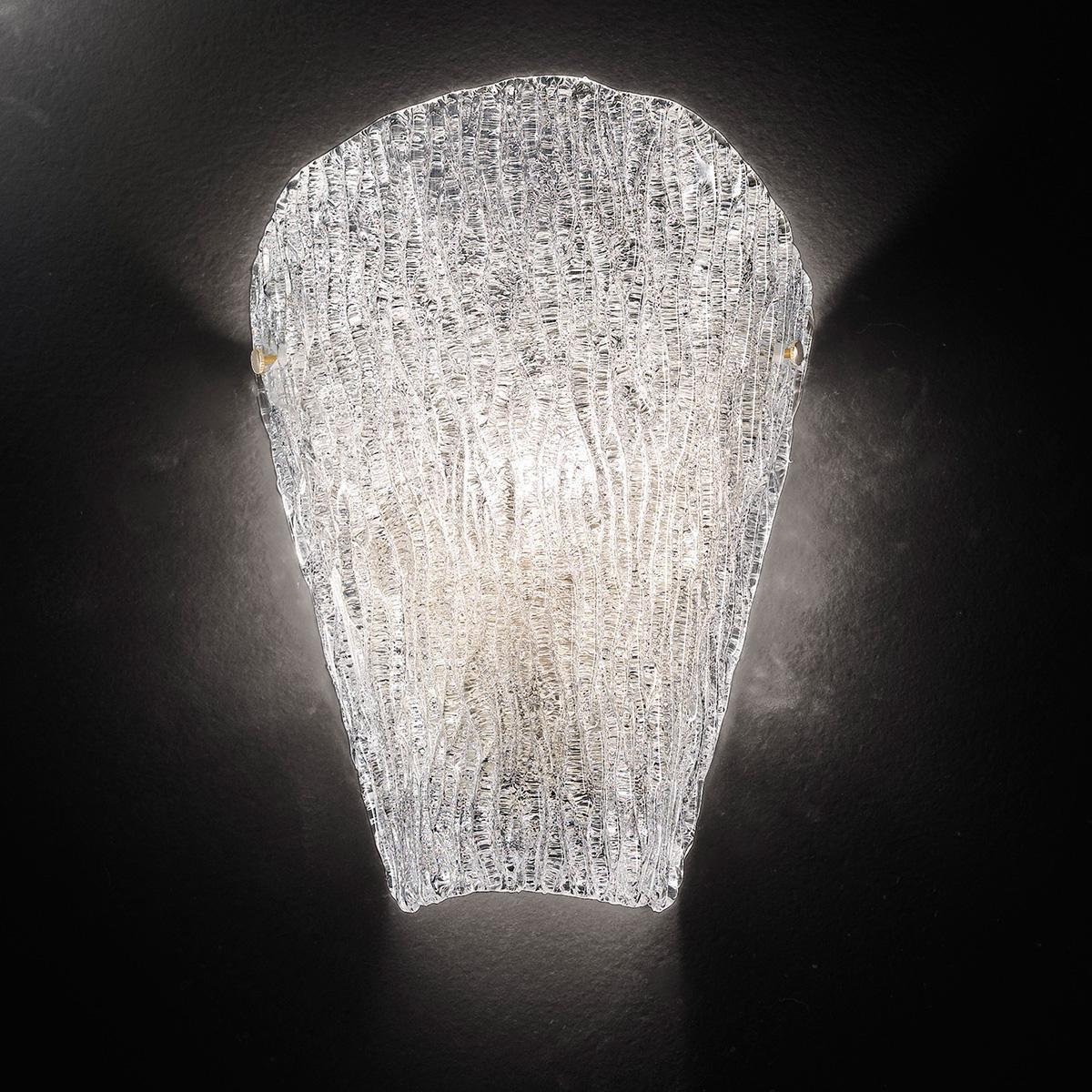 """""""Tina"""" aplique de pared de Murano - 1 luce - transparente"""
