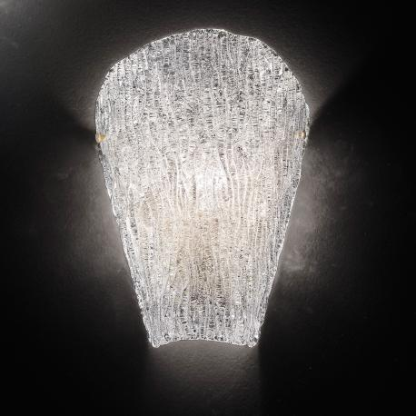 """Tina"" Murano glass sconce - 1 light - transparent"