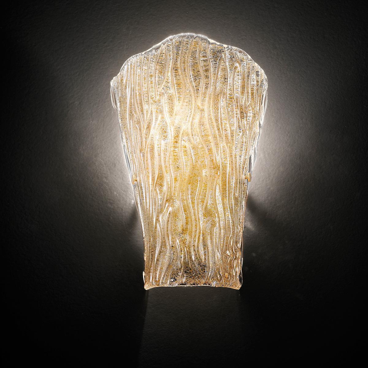 """Tina"" aplique de pared de Murano - 1 luce - ámbar"