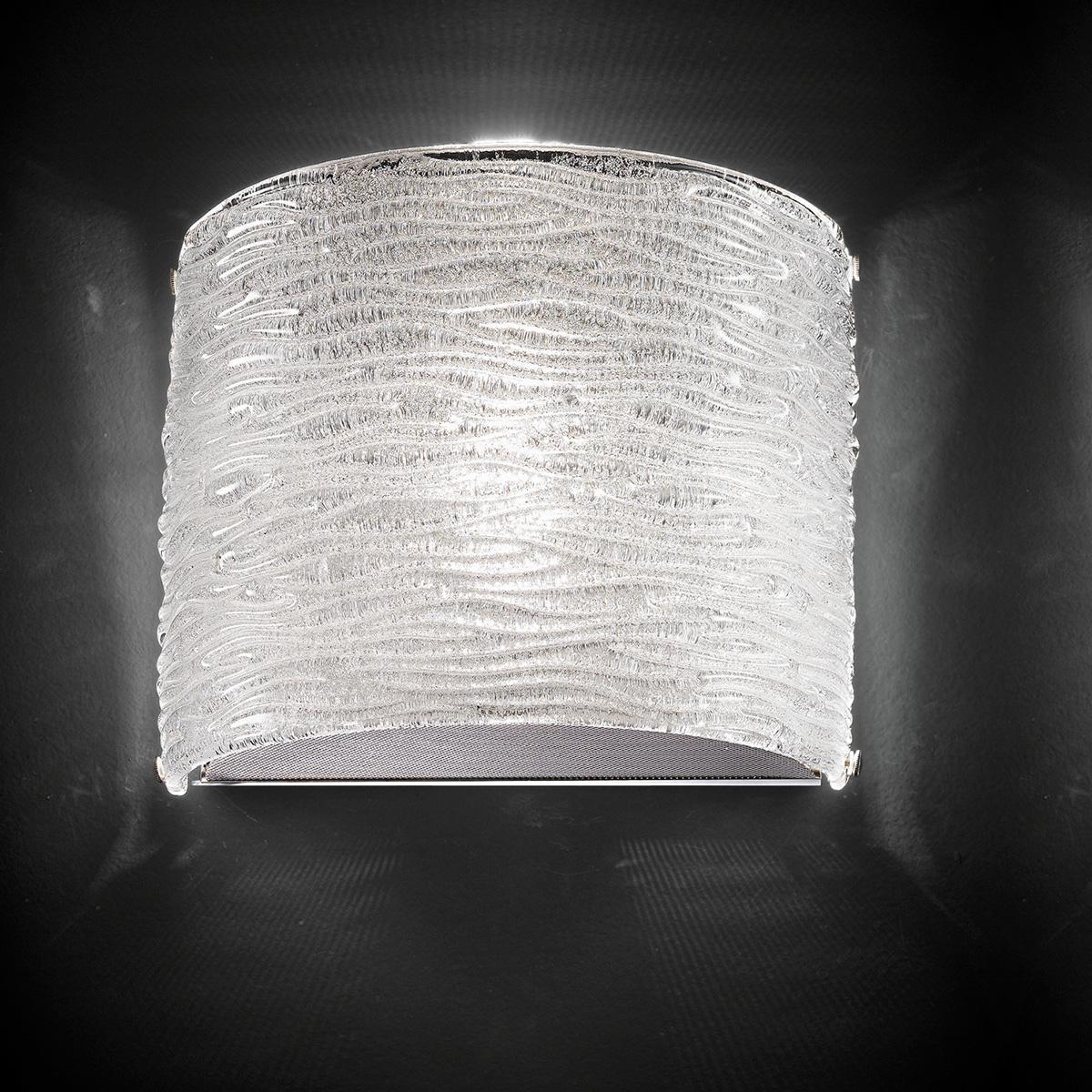 """Arabella"" Murano glas wandleuchte - 1 flammig - transparent"