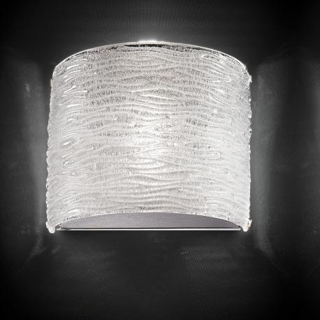 """Arabella"" Murano glass sconce - 1 light - transparent"