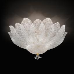 """Adriel"" Murano glass ceiling light - 6 lights - transparent"