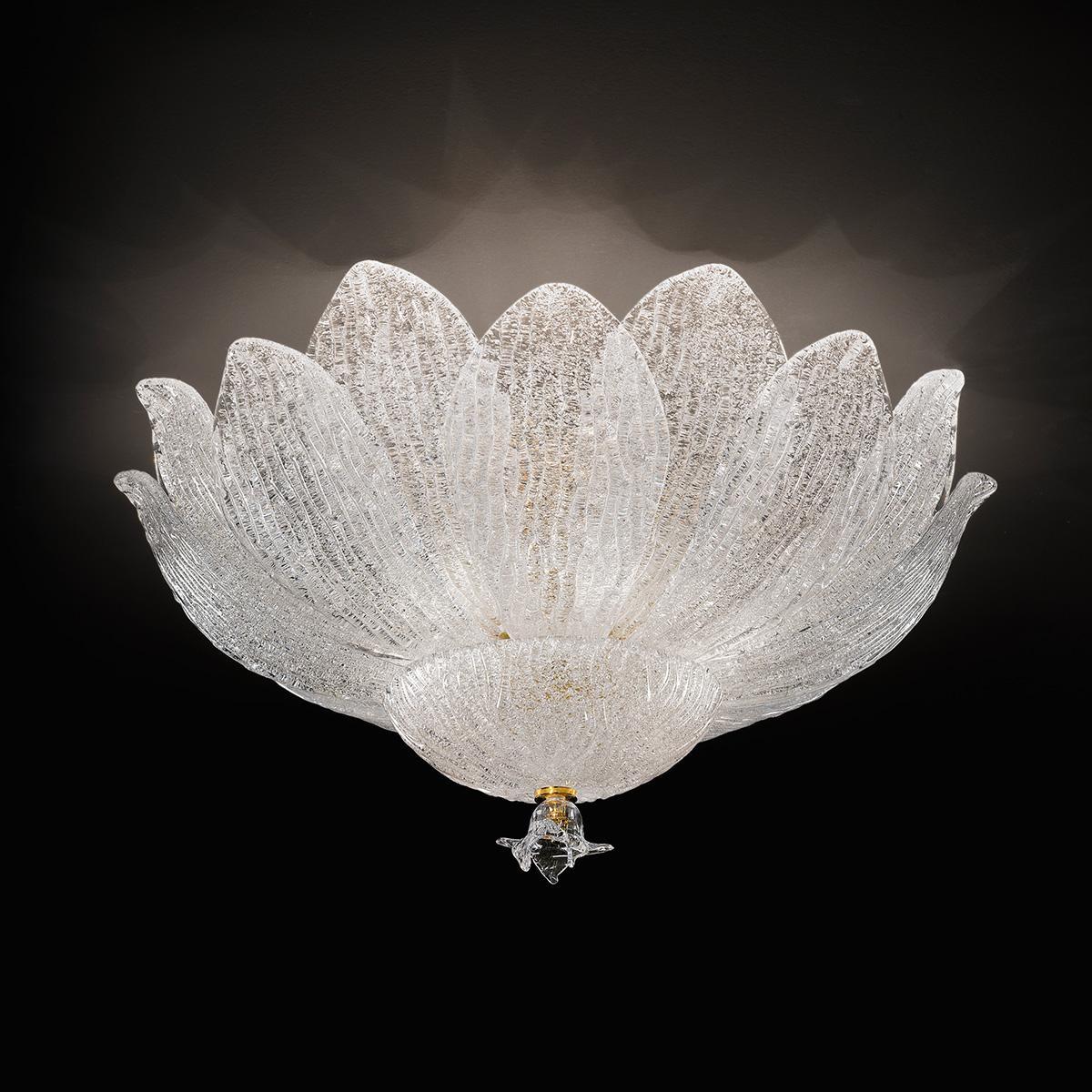 """""""Adriel"""" plafonnier en verre de Murano - 6 lumières - transparent"""