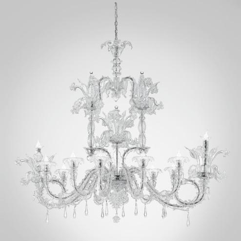 """Chandra "" lustre en cristal de Murano"