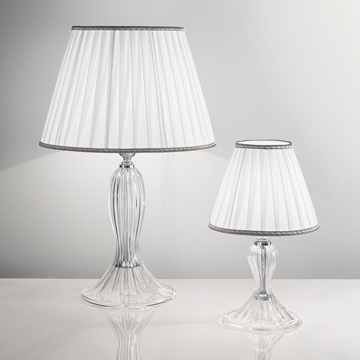 """Cloe"" lampara de sobremesa de Murano - 1 luce - transparente"