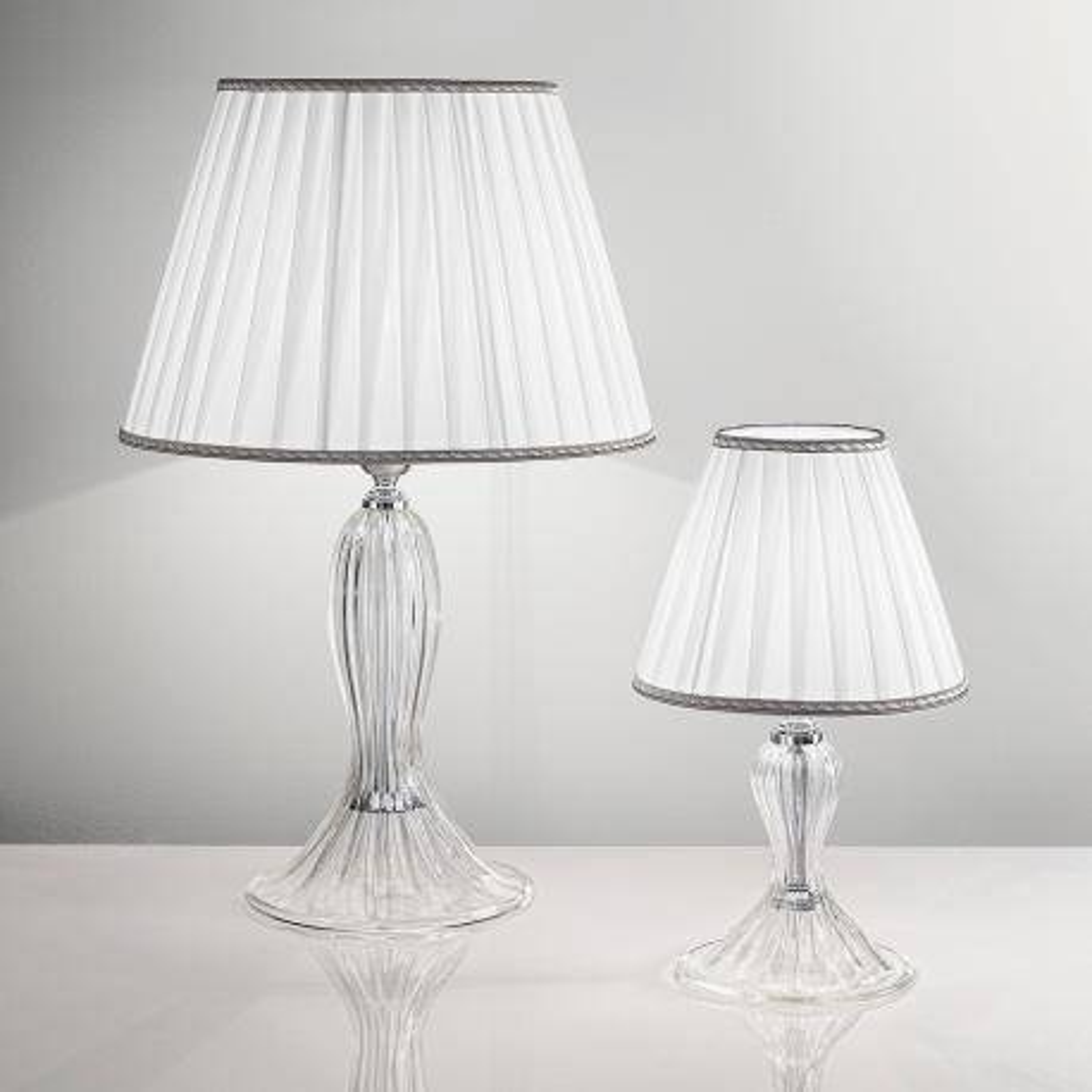 """Cloe"" lampe de table en verre de Murano - 1 lumière - transparent"