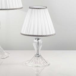 """Cloe"" Murano glass bedside lamp - 1 light - transparent"