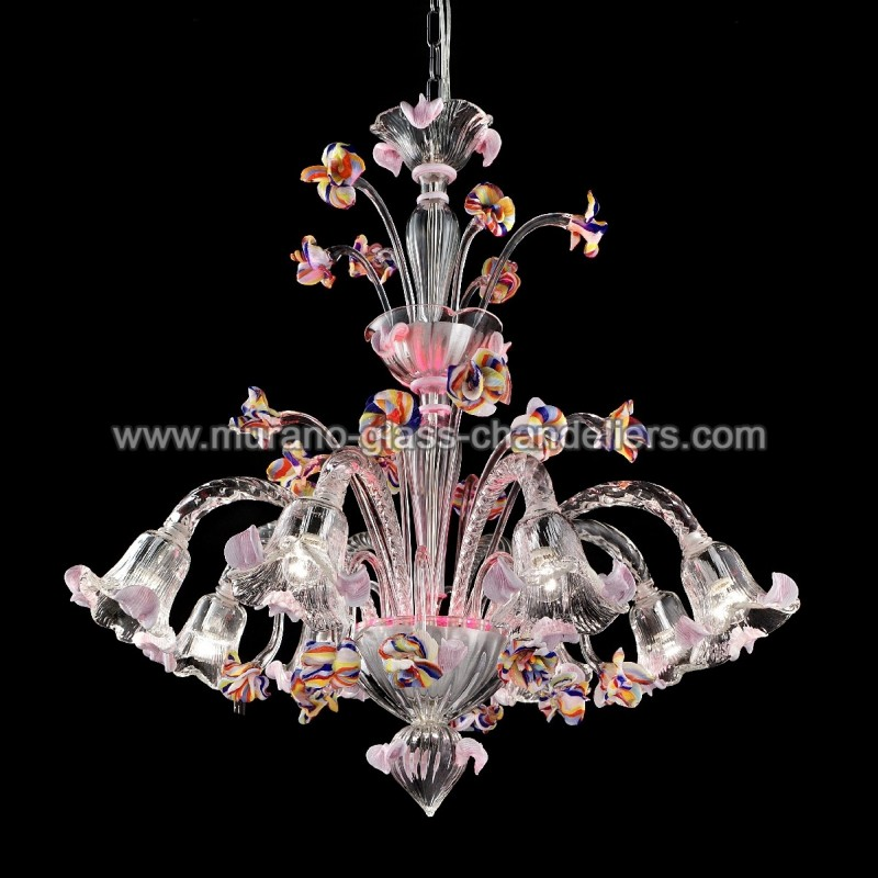 """Murano Glass Chandelier Pictures: """"Carnevale"""" Murano Glass Chandelier"""