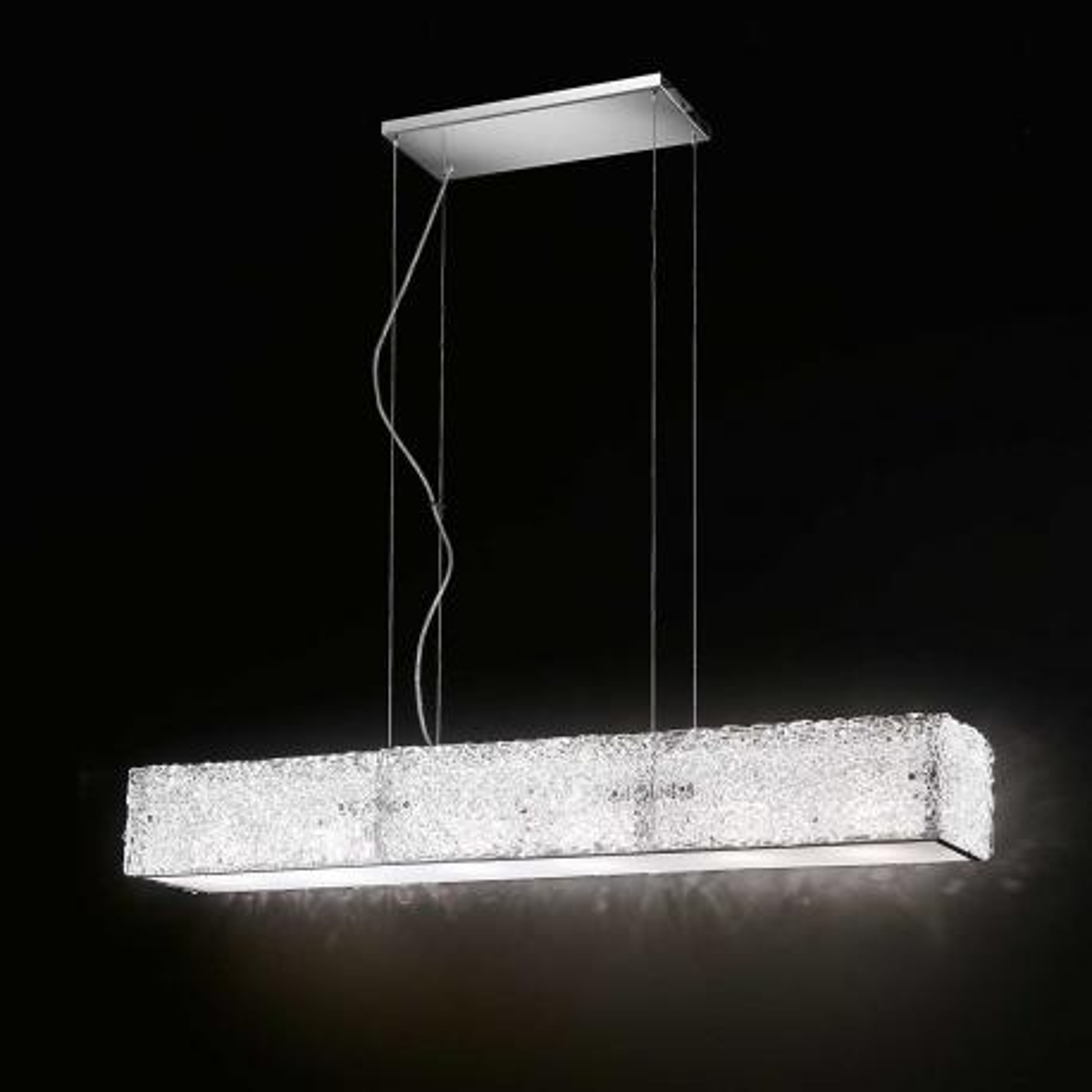 """Luce "" lámpara colgante en cristal de Murano - 6 luces - transparente"