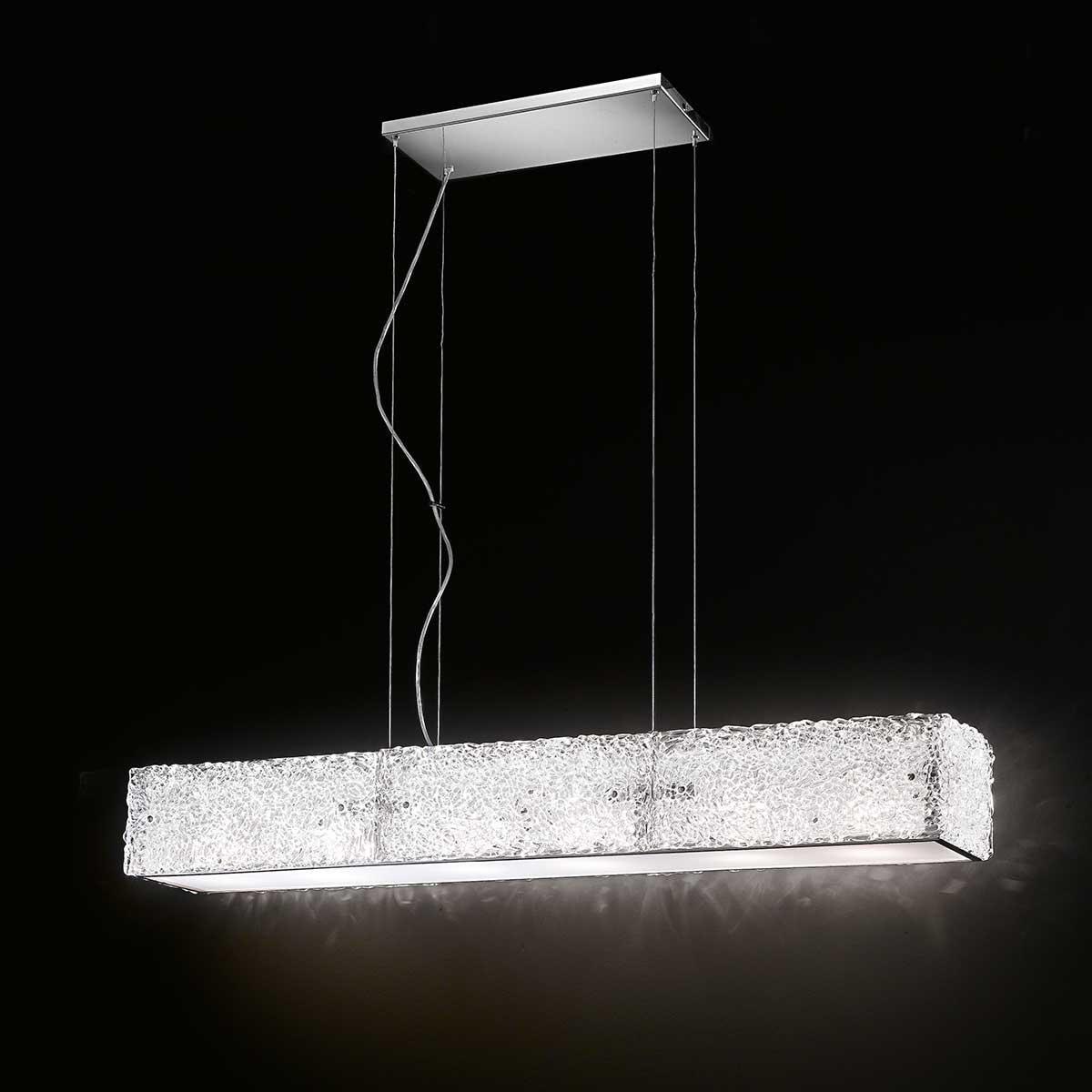 """""""Luce """" suspension en verre de Murano - 6 lumières - transparent"""
