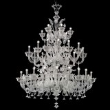 """Casanova"" large three tier Murano glass chandelier with rings"