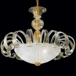 """Ipparchia"" Murano glass chandelier"