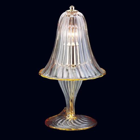 """Osiride"" lampara de sobremesa de Murano - 1 luce - transparent y ámbar"