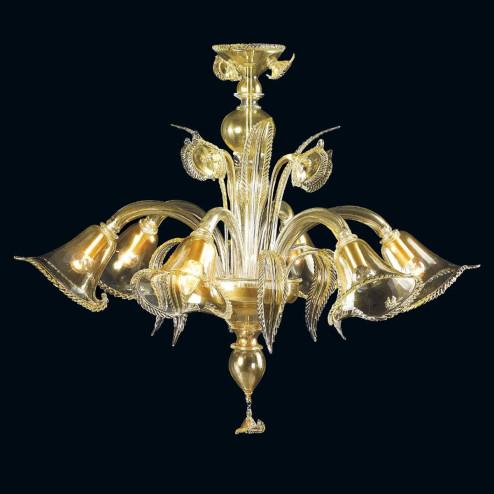 """""""Margaret"""" lampara de araña de Murano - 6 luces - oro"""