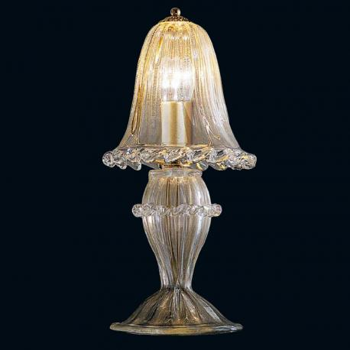"""""""Tish"""" Murano glass bedside lamp - 1 light - gold"""