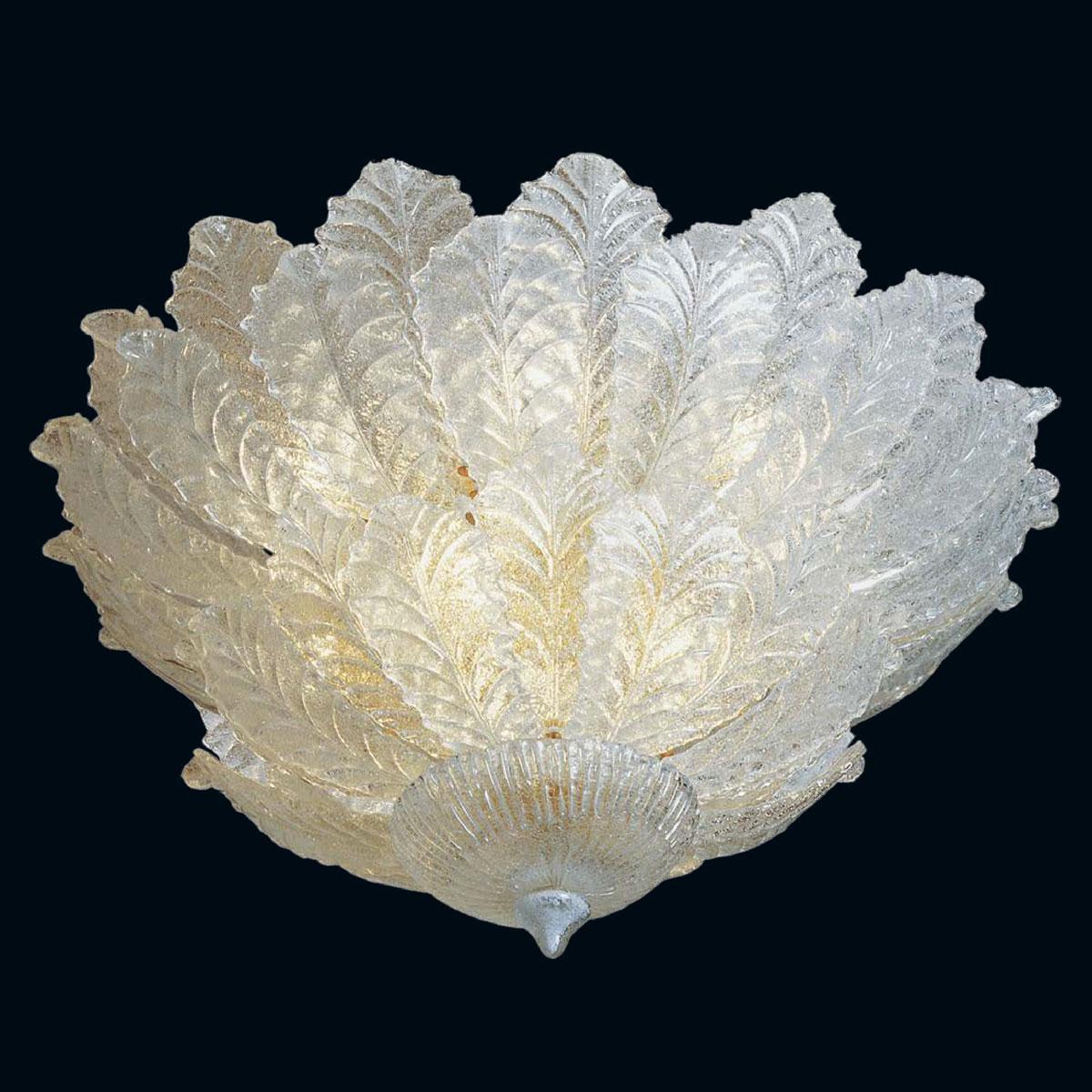"""""""Kalyn"""" plafonnier en verre de Murano - 9 lumières - transparent"""
