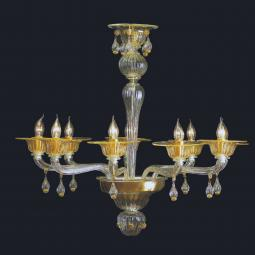 """Noreen"" Murano glass chandelier"
