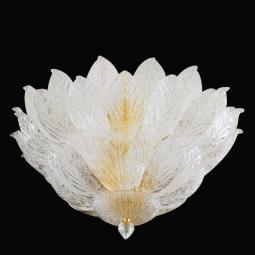 """Candance"" Murano glass ceiling light - 9 lights - transparent"