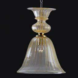 """Casimira"" Murano glass pendant light - 1 light - gold"
