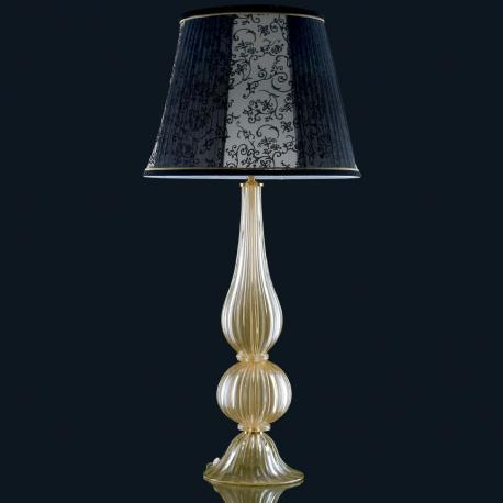 """Josie"" Murano glass table lamp - 1 light - gold"
