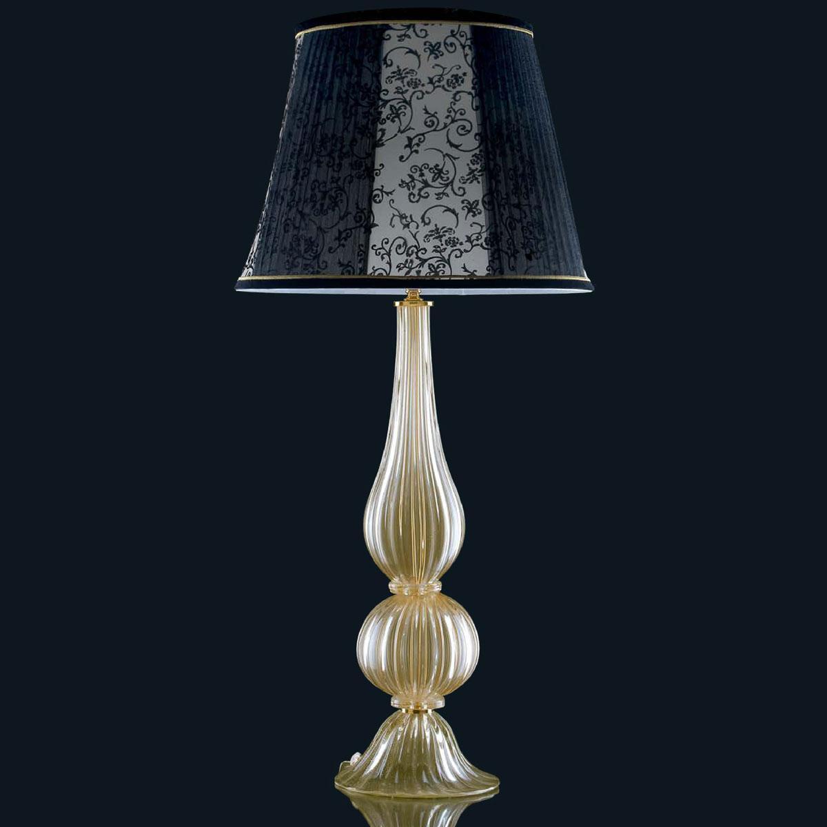 """Josie"" Murano glass table lamp - 1 light - gold"