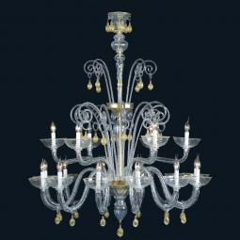 """Cassia"" lustre en cristal de Murano"