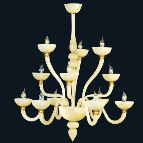 """""""Fateh"""" lampara de araña de Murano"""