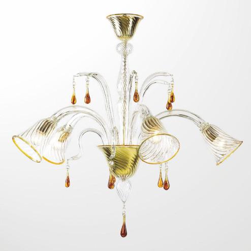 """""""Crista"""" lampara de araña de Murano"""