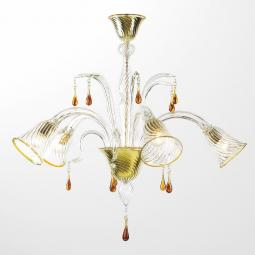 """Crista"" Murano glass chandelier"