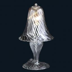 """Crista"" Murano glass bedside lamp"